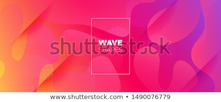 abstract vector background with color waves stock photo © blotty