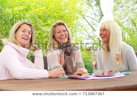 three girlfriends drinking wine together Stock photo © photography33
