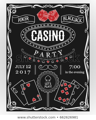 Casino invito illustrazione line web Foto d'archivio © obradart
