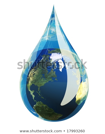 Green Tree inside a clean drop of water stock photo © vlad_star