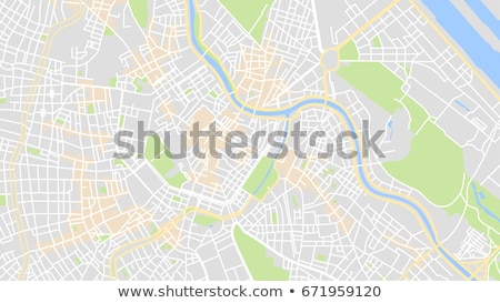 Gps kaart draagbaar auto vergadering straat Stockfoto © REDPIXEL