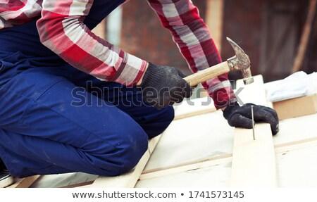 Artisan hitting tile Stock photo © photography33