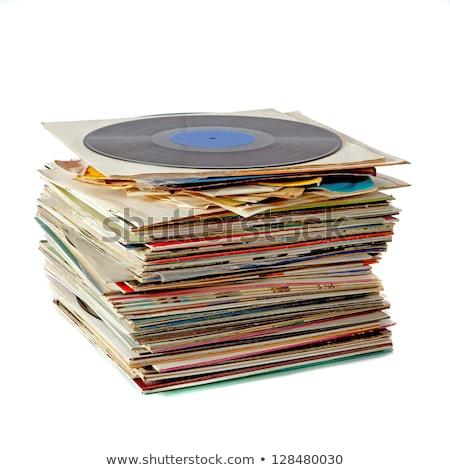 ビニール · レコード · コレクション · 異なる · ラベル - ストックフォト © marekusz