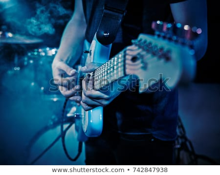 Davulcu bant oynama sahne kadın Stok fotoğraf © sumners