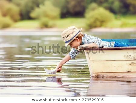 Bateau jouet lac Paris eau bois Photo stock © urbanangel