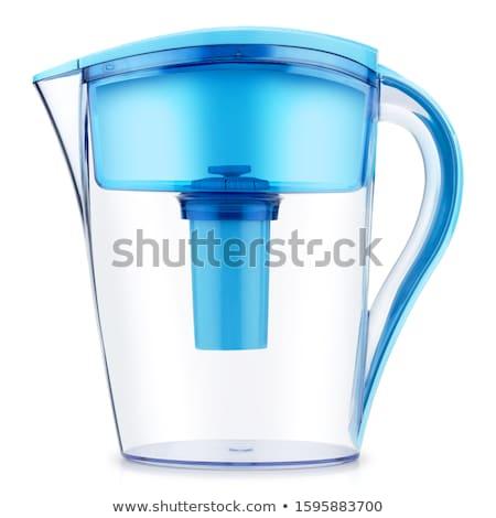 água · filtrar · vidro · isolado · branco - foto stock © shutswis