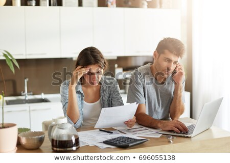 business couple making important call stock photo © photography33