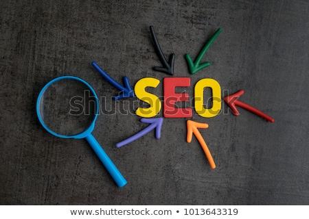 Seo оказывать текста поиск ссылками социальной Сток-фото © georgejmclittle