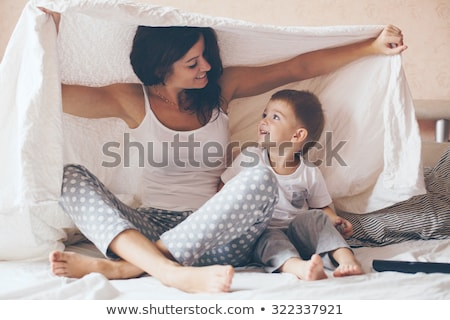mother and son playing under the blanket stock photo © photography33
