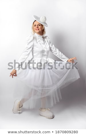 Blond woman in fancy dress outfit Stock photo © photography33