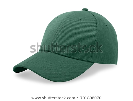 A green baseball cap is isolated on a white background Stock photo © shutswis