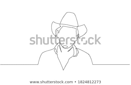 Bandit Smiling Face Vector Illustration Stock photo © chromaco