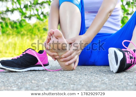 Athletic woman having a leg massage Stock photo © wavebreak_media