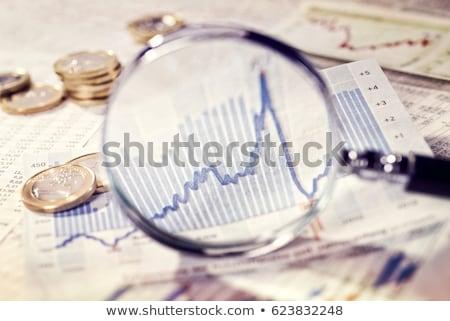 emelkedő · érme · diagram · pénz · bár · siker - stock fotó © janpietruszka