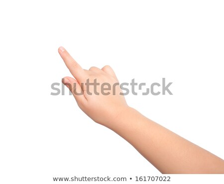 Child's hand pointing out  stock photo © Len44ik