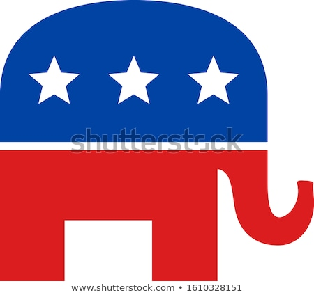 Republican Elephant Stock photo © AlienCat