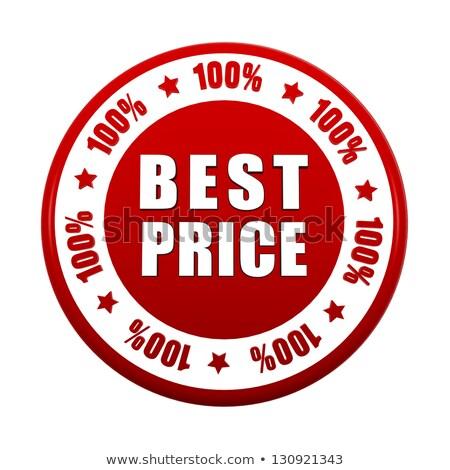 100 percentages best price 3d red circle label stock photo © marinini