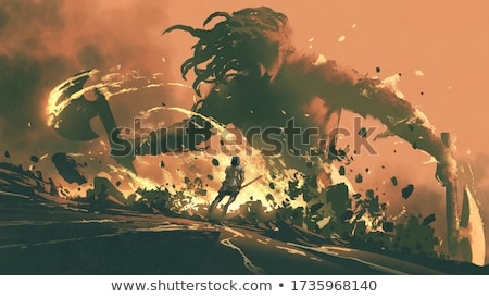 ridder · zwaard · middeleeuwse · krijger · militaire - stockfoto © cteconsulting