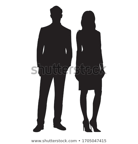 fashionable male figure in silhouette stock photo © aetb