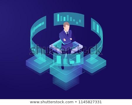 financeiro · jovem · pessoas · de · negócios · dados · laptop · tela - foto stock © wavebreak_media