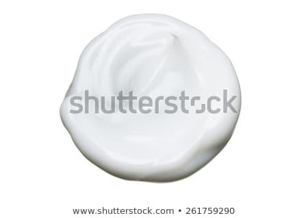 уход за кожей красивая женщина кремом изолированный белый женщину Сток-фото © HASLOO