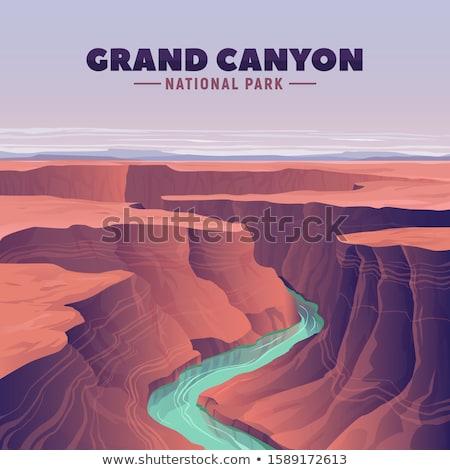 Гранд-Каньон Аризона дерево облака природы пейзаж Сток-фото © snyfer