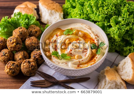 falafel, hummus and bread Stock photo © M-studio