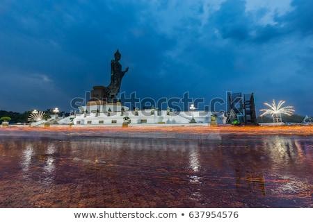 Buda · el · Tayland · gökyüzü · ağaç · Bina - stok fotoğraf © posterize