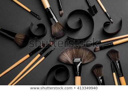 Sminkecset makró függőleges lövés arc divat Stock fotó © moses