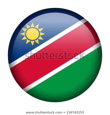 Gomb Namíbia térkép zászló kártyák vidék Stock fotó © Ustofre9