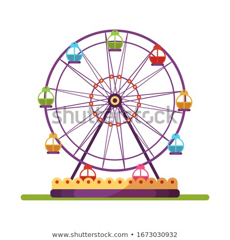 ferris wheel with colorful cabins stock photo © tuulijumala