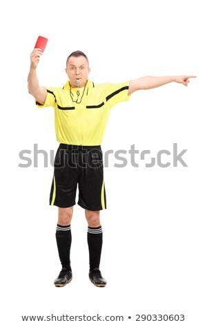 Retrato árbitro branco esportes Foto stock © vankad