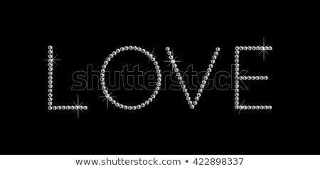 precious diamond love card vector illustration stock photo © carodi