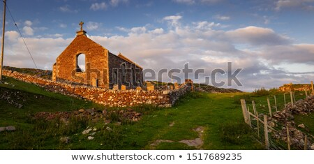 ruins of church in Stoer, Highlands, Scotland Stock photo © phbcz