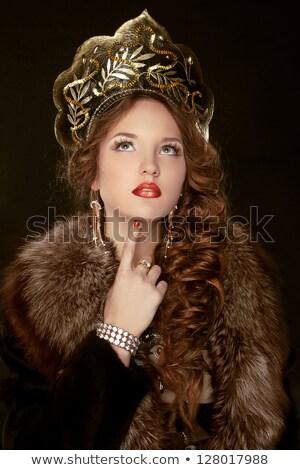 Russian Beauty. Attractive female wearing in kokoshnik. Woman's  Stock photo © Victoria_Andreas