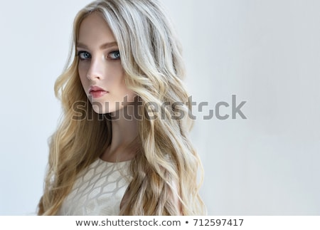 Beautiful woman with tousled blond hair Stock photo © stryjek