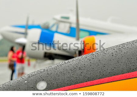 abstract view of airshow during a rain storm Stock photo © alex_grichenko