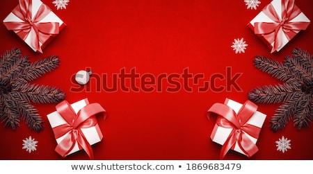 Elegancki christmas jodła sylwetka kasztanowaty Zdjęcia stock © marimorena