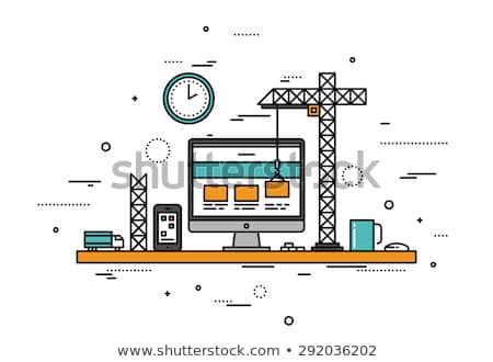 Vector Building Computer Design Stock photo © dashadima