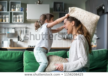 Mom daughter having a great time Stock photo © javiercorrea15