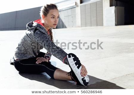 Stock fotó: Sport · nő · test · visel · fekete · sportruha