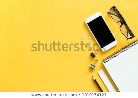 çevrimiçi · eğitim · sarı · dizayn · bağbozumu · uzun - stok fotoğraf © tashatuvango