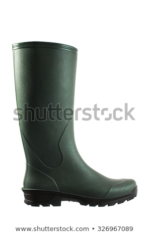 Green rubber boots for garden work Stock photo © stevanovicigor