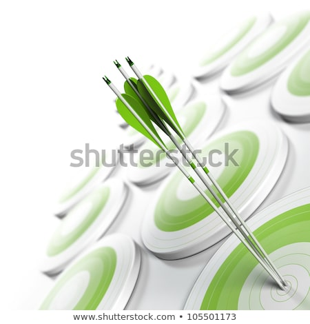 quality concept on green arrow stock photo © tashatuvango
