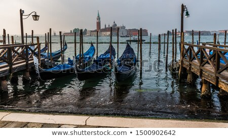Venice by night, overlooking the Canale Grande from the Rialto b Stock photo © meinzahn
