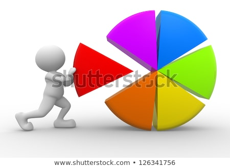 hombre · 3d · diagrama · éxito · rojo · financiar · gerente - foto stock © designers