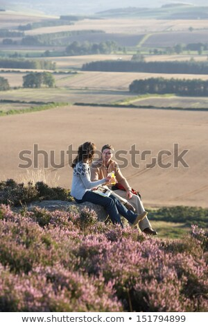 Two Women Stopping For Lunch On Countryside Walk Stock photo © monkey_business
