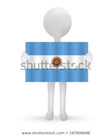small 3d man holding a Argentinian Flag Stock photo © Istanbul2009