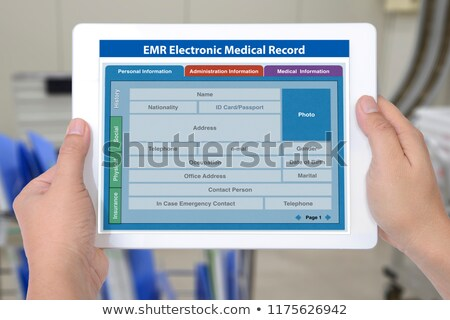 entry in the medical record Stock photo © OleksandrO