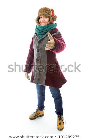 Ropa de abrigo ofrecimiento mano apretón de manos Foto stock © bmonteny